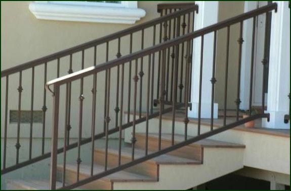 Walnut Creek Wrought Iron Hand Railing Stair Railings Porch